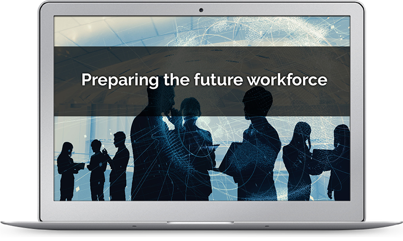 AI image depicting issues in workforce preparation