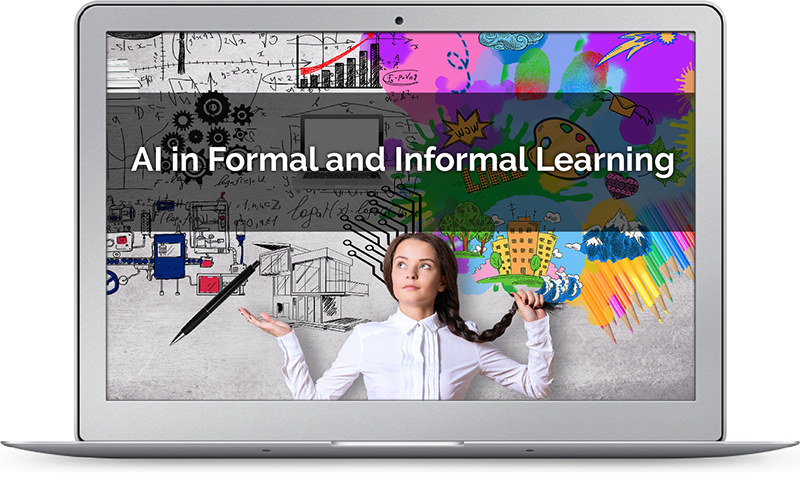 AI image depicting issues in formal and informal learning
